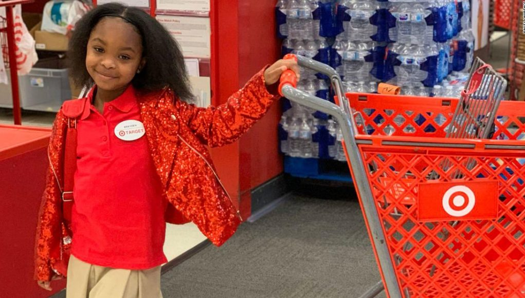 An 8-year-old girl and her friends dressed as Target employees and took over a store for her birthday
