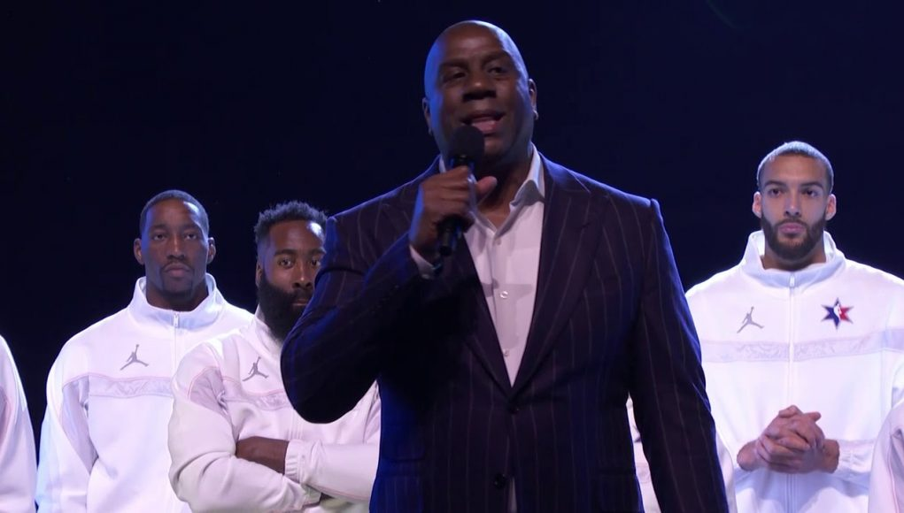 Magic Johnson Reflects on Deaths of David Stern and Kobe Bryant Before NBA All-Star Game