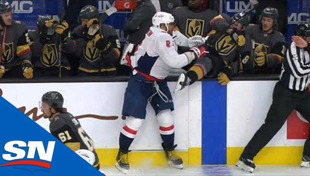 Alex Ovechkin Sends Nate Schmidt For Involuntary Line Change Into Golden Knights Bench