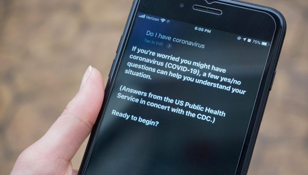 Apple updated Siri to help people who ask if they have the coronavirus