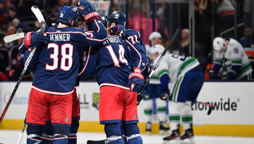Blue Jackets stage remarkable comeback against Vancouver