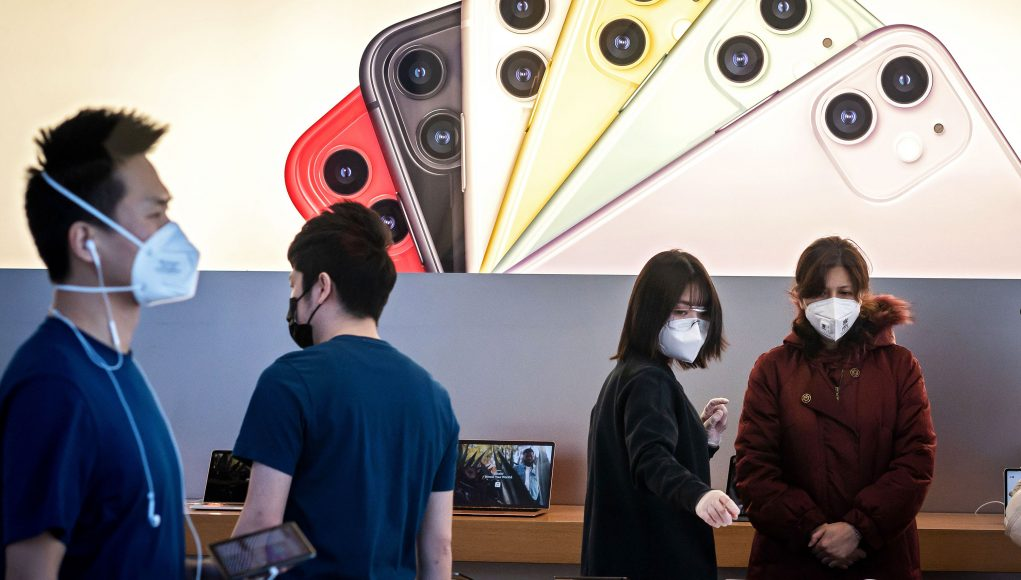 All but four of Apple's stores in mainland China have reopened after coronavirus shutdown