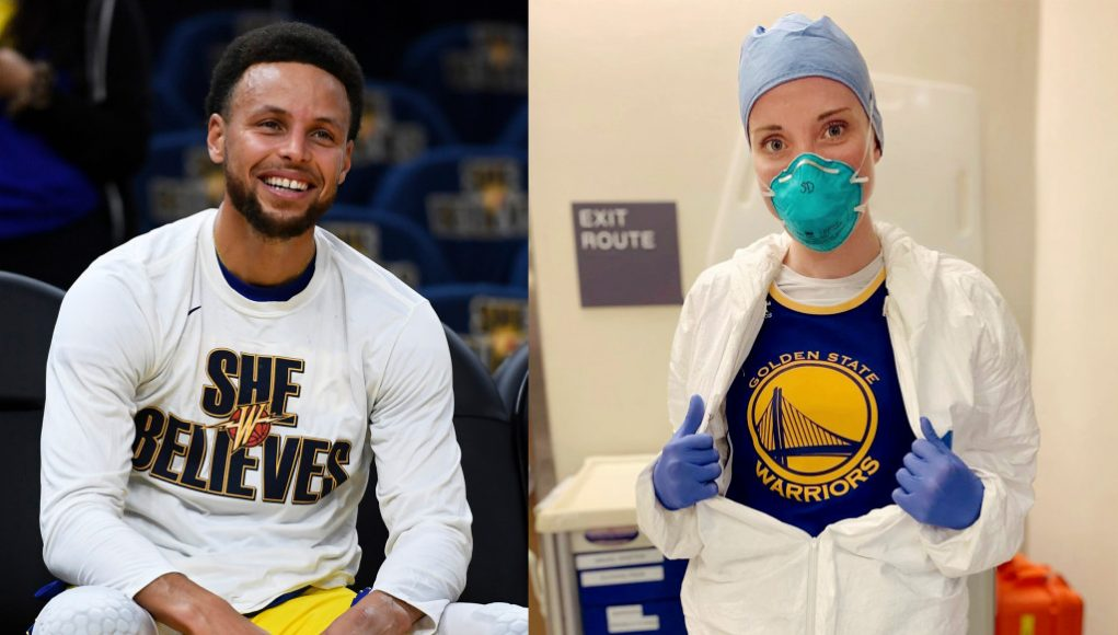 Watch: Steph Curry's call inspires hope for Oakland coronavirus nurse: 'I can't thank God enough for what you're doing'