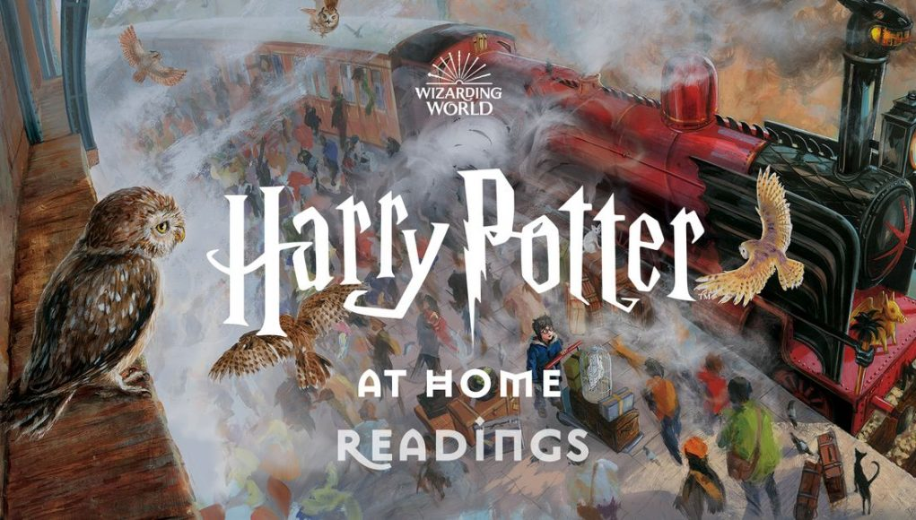 Daniel Radcliffe and others are reading chapters of Harry Potter and the Philosopher's Stone on video