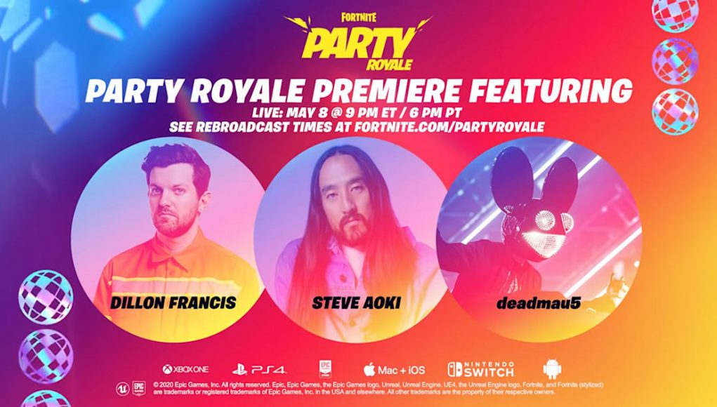 Fortnite celebrates 350 million players with a Party Royale concert