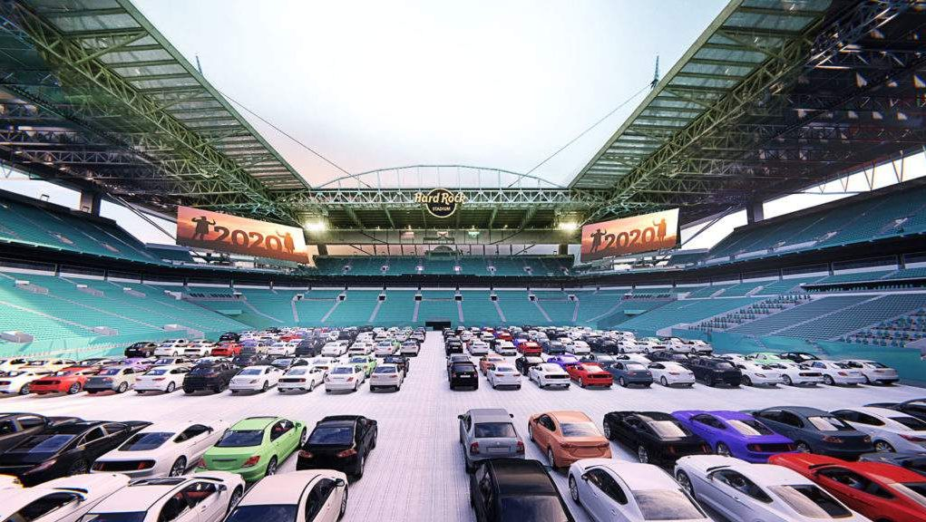 Miami Dolphins to turn Hard Rock Stadium into drive-in movie theater