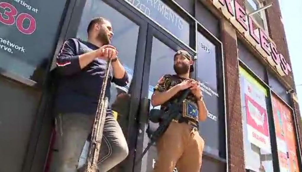 Armed business owners seen near Cleveland protest