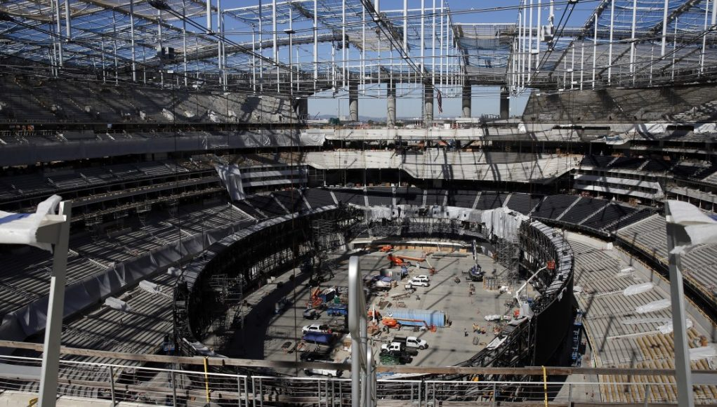 SoFi Stadium worker falls and dies, halting work on project