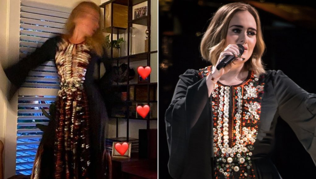 Adele models Chloé dress from Glastonbury 2016 after weight loss