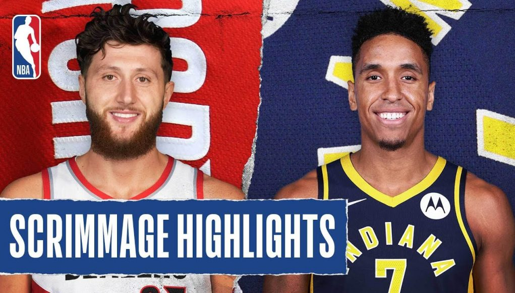 TRAIL BLAZERS at PACERS   SCRIMMAGE HIGHLIGHTS   July 23, 2020