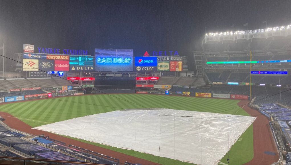 Yankees-Phillies rain delay: When will play resume? Weather forecast (UPDATE)