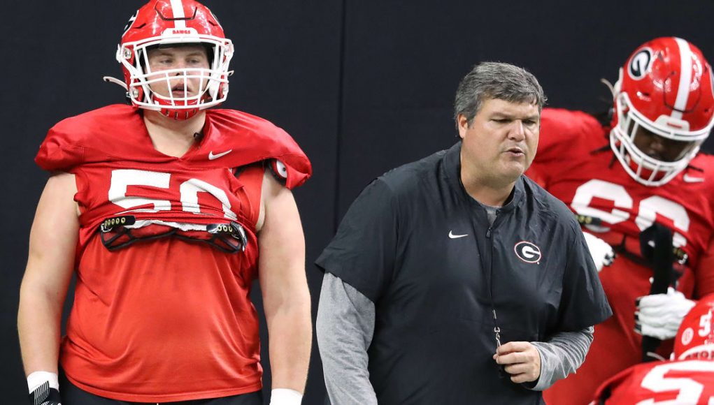 Georgia football offensive line shaping up, but still has 'musical chairs'