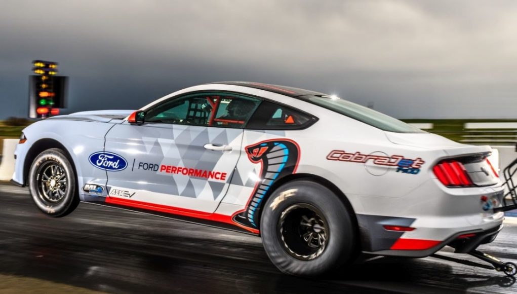 Ford's electric Mustang dragster covers a quarter-mile in 8.27 seconds