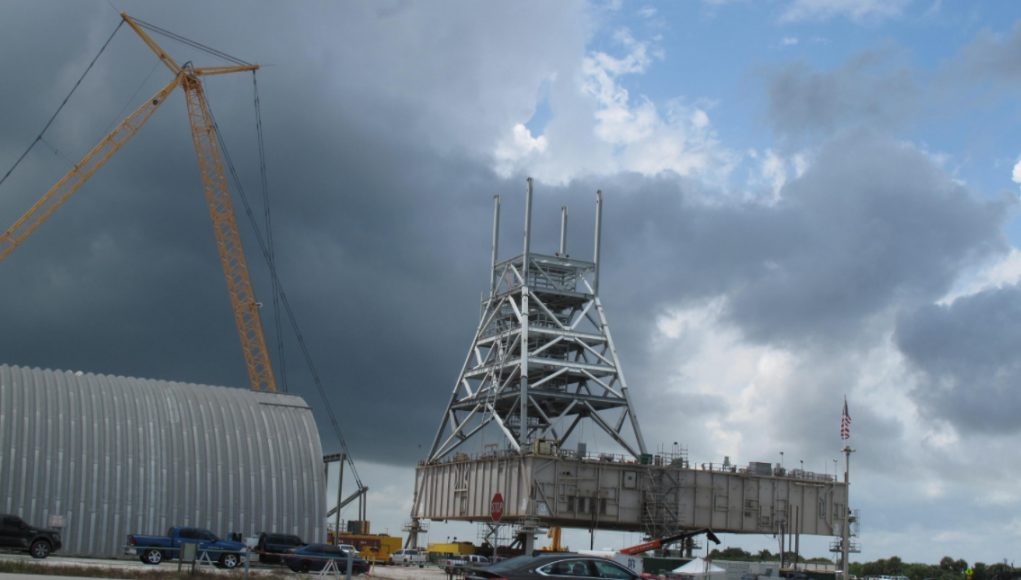 OmegA Launch Tower to be demolished as KSC 39B fails to become a multi-user pad
