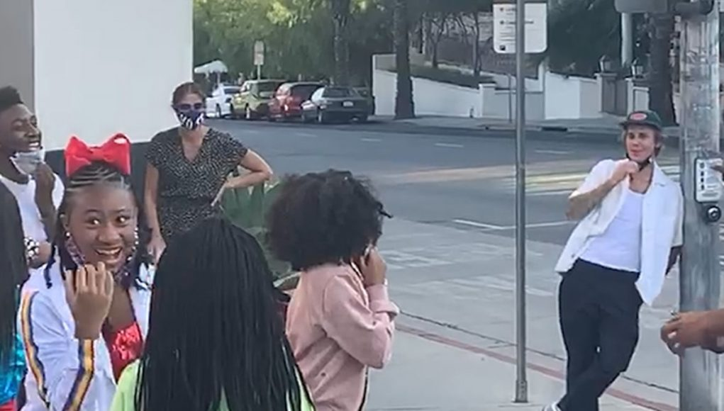 Justin Bieber Surprises Youth Gospel Group Dancing to New Song 'Holy'